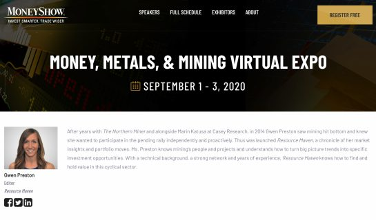 Money Show- Money, Metals & Mining Virtual Expo